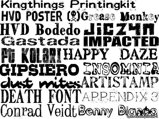Хороший набор из 300 латинских шрифтов